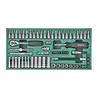 世达SATA 6.3mm系列公制工具托66件套