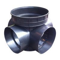 海井 塑料检查井流槽式四通井座